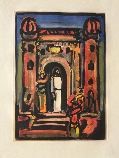 Georges Rouault, 'Passion Suite: Christ aux Portes de la Ville', 1936