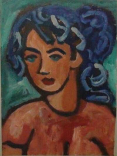 Miklós Németh, 'Blue Hair Woman', 1966
