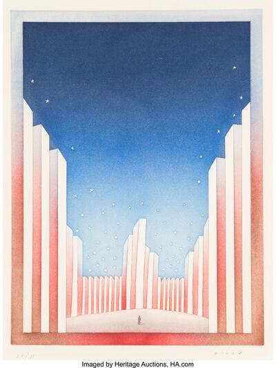 Jean Michel Folon, 'Untitled (American Flag)', c. 1990