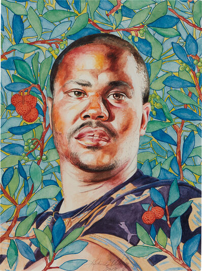 Kehinde Wiley, 'Portrait of Rahsaan Gandy', 2013