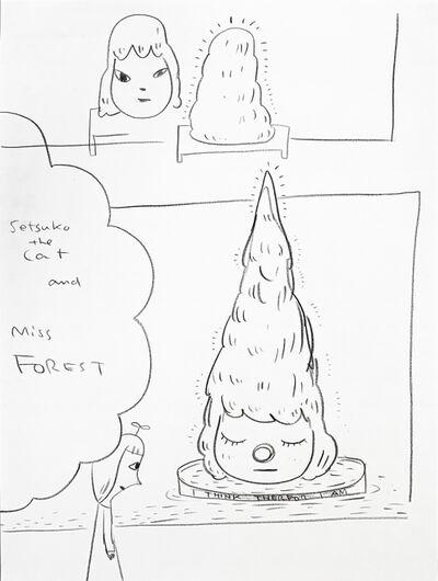 Yoshitomo Nara, 'Sketch for Miss Forest at Japan Society NY', 2018
