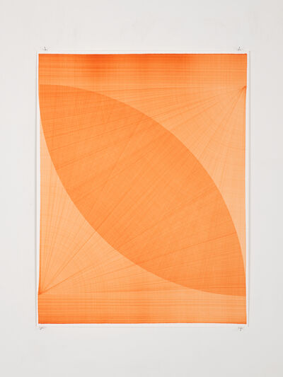 Thomas Trum, 'Two Orange Lines', 2020
