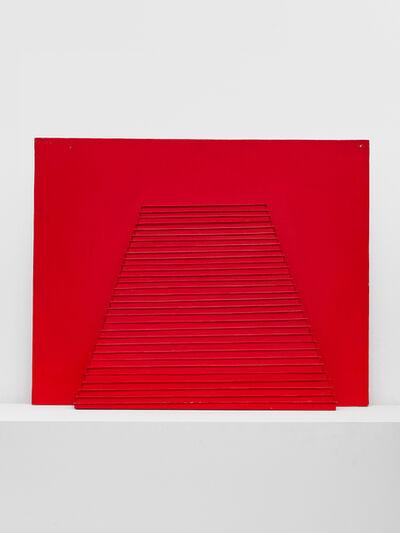 Horia Damian, 'Pyramide avec une bande rouge', 1989