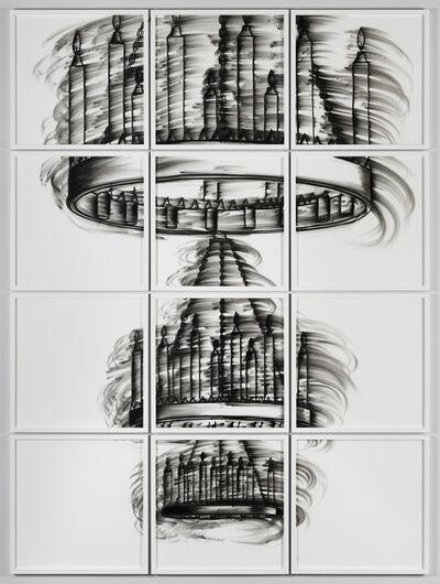 Gary Simmons, 'Chandelier Hallway (White)', 2011