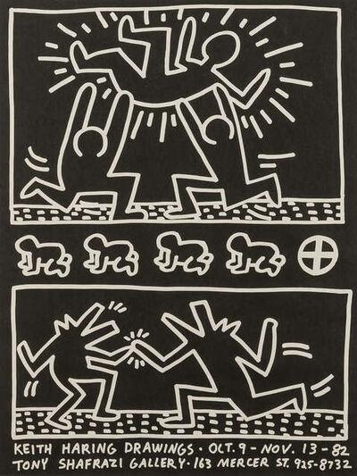 Keith Haring, 'Tony Shafrazi Gallery Poster', 1982