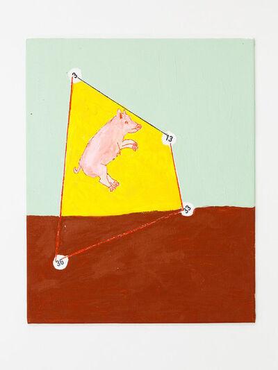 Mladen Stilinovic, 'Pig, Trapeze, Numbers', 2013