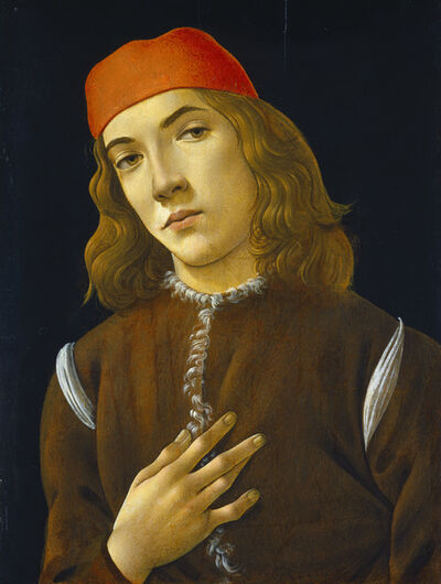 Sandro Botticelli, 'Portrait of a Young Man', 1490-1485