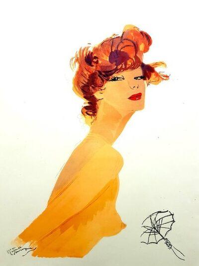"""Jean Gabriel Domergue, 'Lithograph """"Big Eyes"""" after Jean-Gabriel Domergue', 1956"""