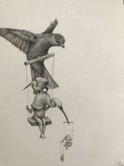 Adonna Khare, 'Birds on Swings', 2017