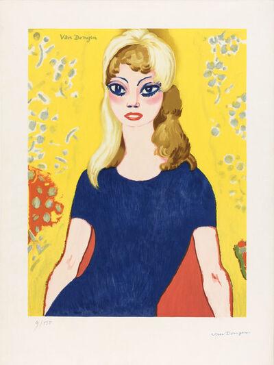 Kees van Dongen, 'BRIGITTE BARDOT (J. JL 42B)', 1964