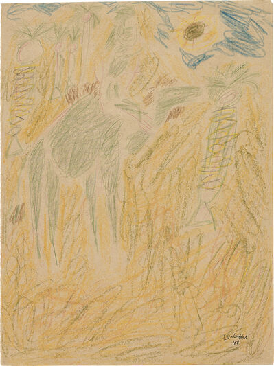 Jean Dubuffet, 'Bédouin sur son chameau', January 1948.