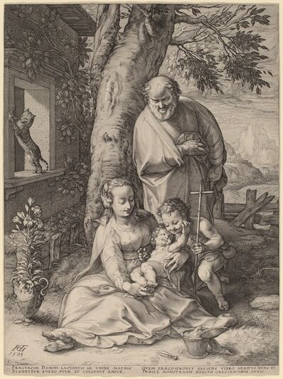 Hendrik Goltzius, 'The Holy Family', 1593