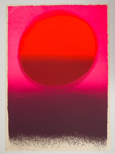 Rupprecht Geiger, 'rotes rund moduliert/rot – rotbraun – leuchtrot', 1962