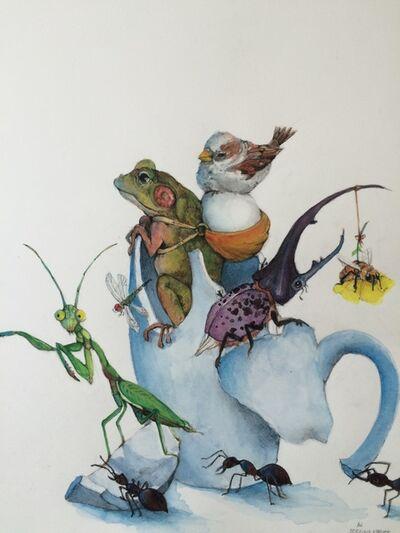 Adonna Khare, 'Frog and Mantis '