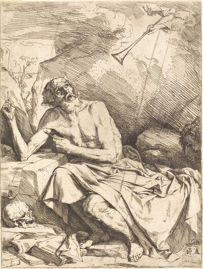Jusepe de Ribera, 'Saint Jerome Hearing the Trumpet of the Last Judgment', 1621