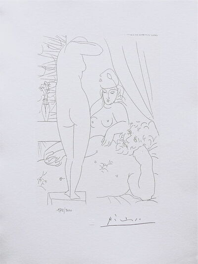 Pablo Picasso, 'Two Nudes & Man', 1990