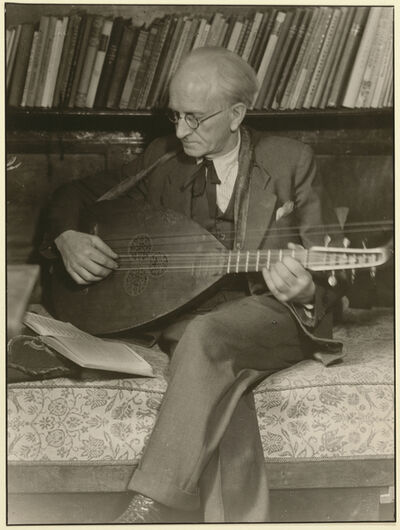August Sander, 'Sander with Mandolin', 1928