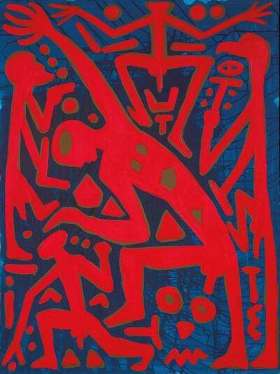 A.R. Penck, 'Rückkehr zu System, Mitte', 1996