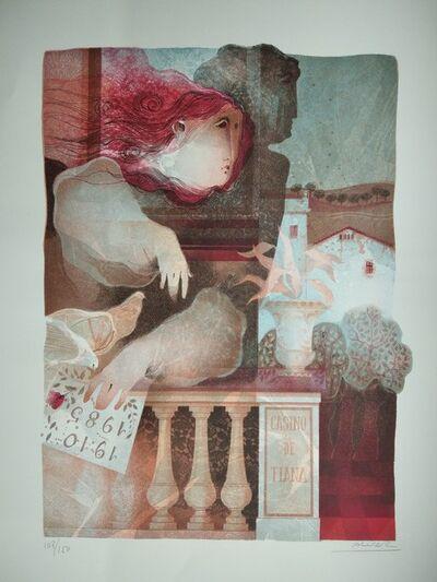 Alvar Sunol, 'Amistat en els jardins del casino', 1985