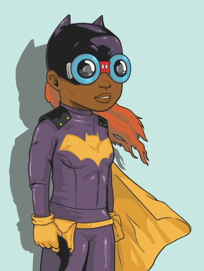 Hebru Brantley, 'Batgirl (Blue)', 2018