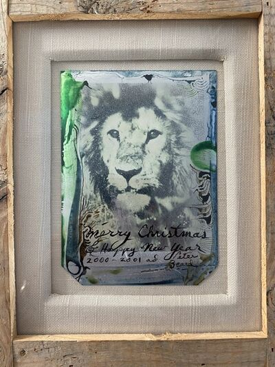 Peter Beard, 'Lion in the Bush (Merry Christmas & Happy New Year 2000-2001)', 2000