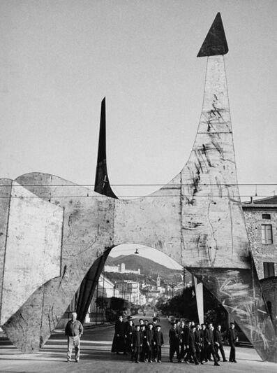 Ugo Mulas, 'Calder, Teodelapio, Spoleto', 1962