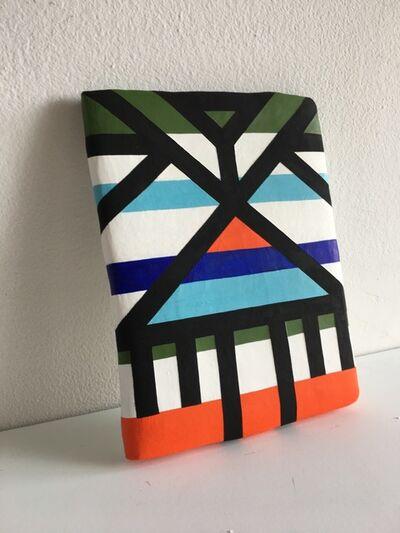 Jill Levine, 'Untitled (Orange, Blue, Green Stripes Tablet)', 2018