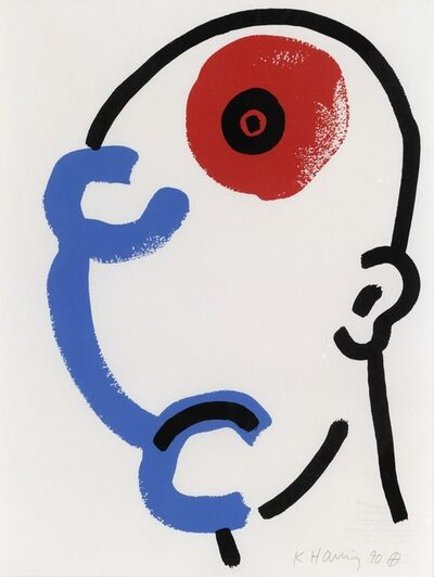Keith Haring, 'From the story of Red and Blue'