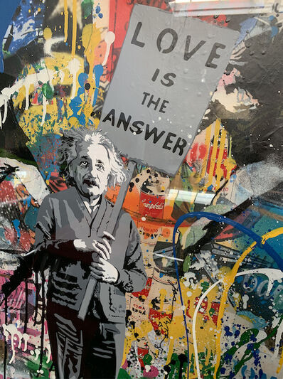 Mr. Brainwash, 'Albert Einstein - Love is the answer', 2018