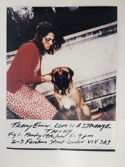 "Tracey Emin, 'TRACEY EMIN ""LOVE IS A STRANGE THING"" SIGNED & NUMBERED', 2000"