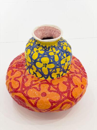 Judy Ledgerwood, 'Double Gourd (Primary Triad)', 2020