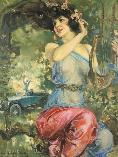 Howard Chandler Christy, 'Motor Magazine Cover', 1923