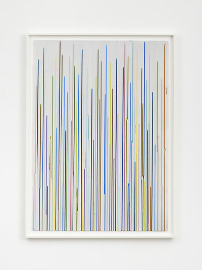 Ian Davenport, 'Staggered Lines: Mixolydian (Grey 1)', 2016