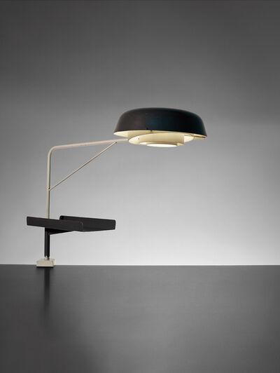 Robert Mathieu, 'Rare pivoting desk lamp and paper tray', ca. 1950