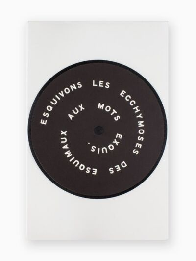 Marcel Duchamp, 'Contrepeterie (Disk with Puns)', 1968 (1926)