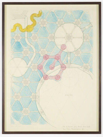Charles Avery, 'Untitled (Plan of Staircasae going through three levels, Inner Circle, Onomatopeia Zoo)', 2017
