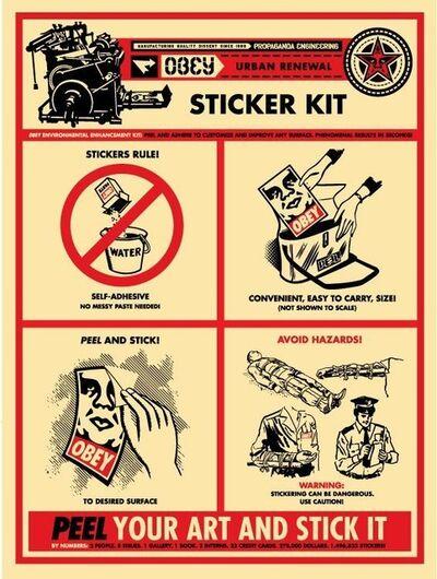 Shepard Fairey, 'Sticker Kit', 2009