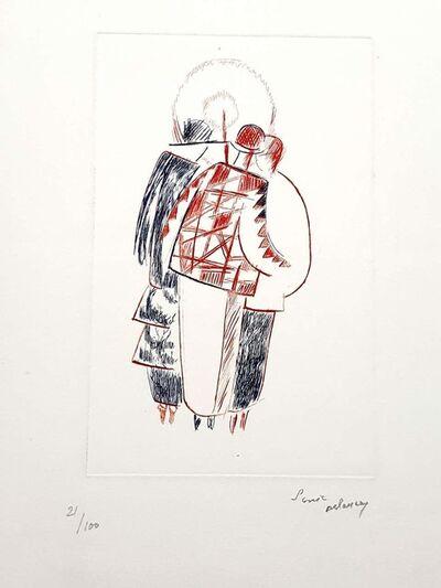 "Sonia Delaunay, 'Original Handsigned Lithograph ""The Three Graces"" by Sonia Delaunay', Circa 1960"