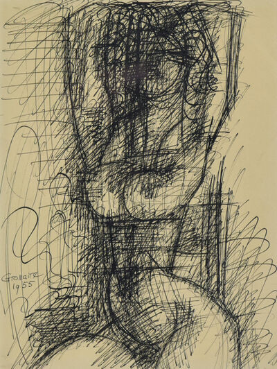 Marcel Gromaire, 'Nu, les Deux Bras Au-dessus de la Tête', 1955