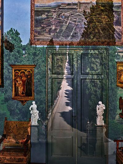 Abelardo Morell, 'Camera Obscura: View of Villa Entrance in Blue Gallery, Villa la Pietra, Florence, Italy', 2017