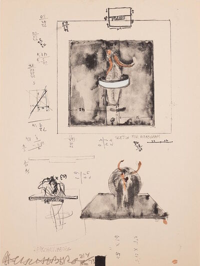 Robert Rauschenberg, 'Sketch for Monogram, 1959', 1973