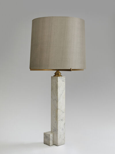 In the style of Jacques Quinet, 'An important marble and bronze table lamp ', ca. 1960