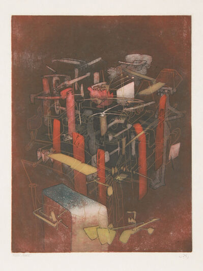 Roberto Matta, 'Etre atout from Hom'mere III - L'Ergonaute', 1976-1977