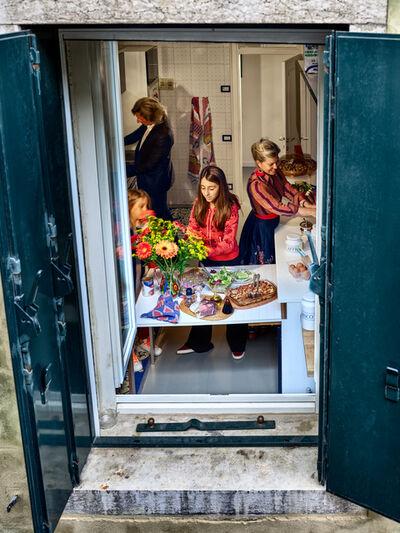 Gail Albert Halaban, 'Family Dinner, San Marco, Venice, Italy', 2018