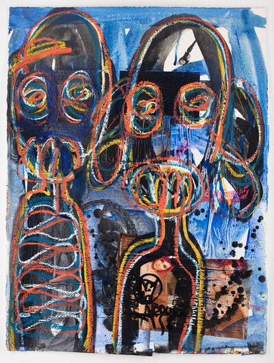 Aboudia, 'Portraits des Nouchis', 2019