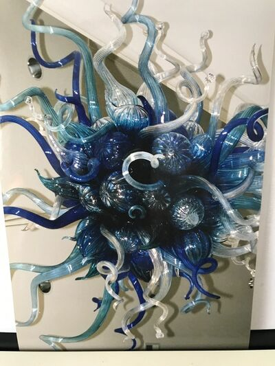 Dale Chihuly, ' Dale Chihuly Original Handblown Blue Mosaic Glass Chandelier  ', 1998
