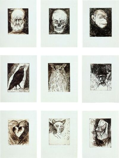 Jim Dine, '9 Studies for Winter Dream (Complete Portfolio of Nine Prints)', 1994