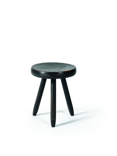 Charlotte Perriand, 'Black Berger stool in oak', vers 1953