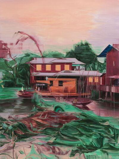 Lei Qi, 'Sailing a canoe', 2019