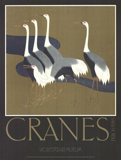 Sakai Hoitsu, 'Cranes', 1982